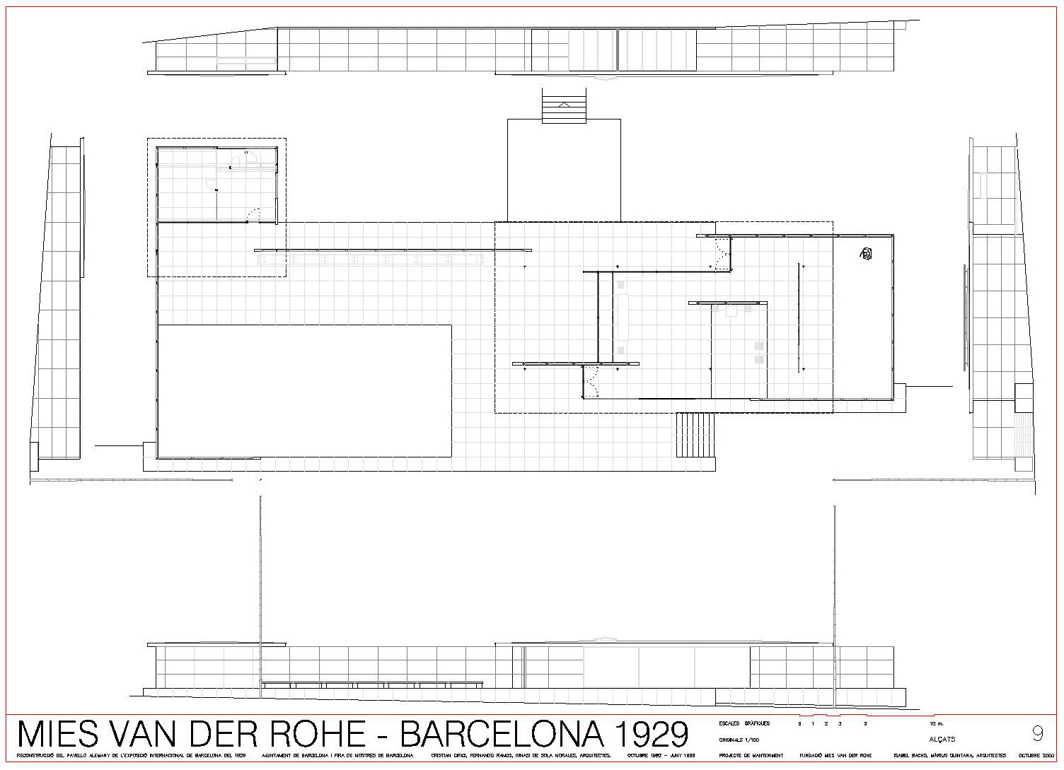 Barcelona Pavillon Modell bauen (Studium Zukunft Architektur) - Esherick House Floor Plan